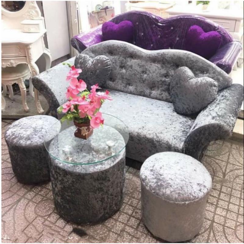 Bộ Sofa AMA Furniture MNBS-LOVE-V5 (XÁM)