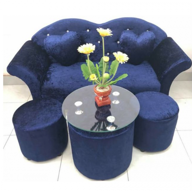Bộ Sofa AMA Furniture MNBS-LOVE-V3 (Xanh Biển)