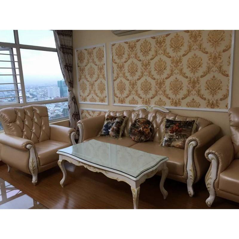 Bộ sofa cổ điển cao cấp sang trọng AMA Furniture MNMS-LUIS-U6 (Vàng Đồng)
