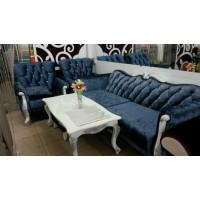 Bộ sofa cổ điển cao cấp sang trọng AMA Furniture MNMS-LUIS-V5 (Xanh Biển)